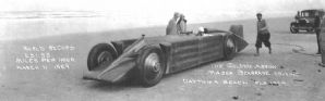 GOLDEN ARROW 1929 Henry Segrave at Daytona - panoramic